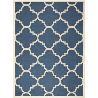 Safavieh Courtyard Quatrefoil Navy/ Beige Indoor/ Outdoor Rug (9' x 12')|https://ak1.ostkcdn.com/images/products/8059859/8059859/Safavieh-Indoor-Outdoor-Courtyard-Navy-Beige-Rug-9-x-12-P15416527.jpg?_ostk_perf_=percv&impolicy=medium
