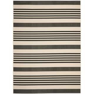 Safavieh Courtyard Stripe Black/ Bone Indoor/ Outdoor Rug (9' x 12')|https://ak1.ostkcdn.com/images/products/8059912/8059912/Safavieh-Indoor-Outdoor-Courtyard-Black-Bone-Rug-9-x-12-P15416597.jpg?impolicy=medium
