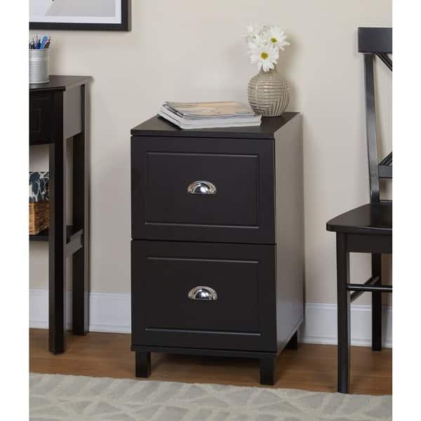 Shop Simple Living Bradley 2 Drawer Filing Cabinet Overstock 8059954 Black