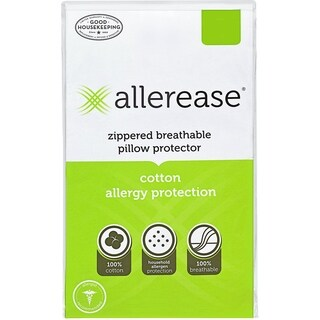 AllerEase Cotton Allergy Protection Pillow Protector, Set of 2