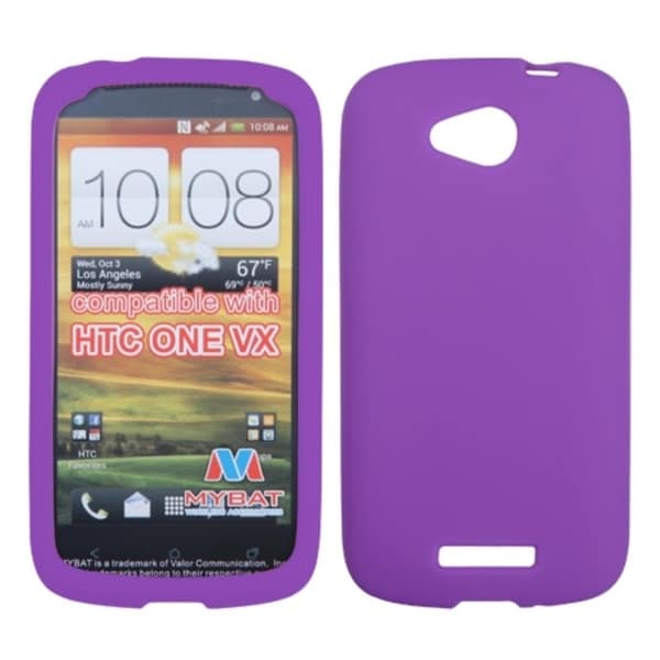 INSTEN Electric Purple Solid Skin Phone Case Cover for HTC One VX