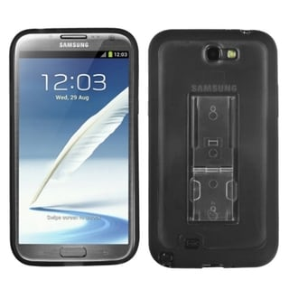 INSTEN Black Smoke TPU Phone Case Cover for Samsung Galaxy Note II/ 2 N7100