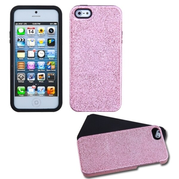 INSTEN Pink/ Black Fusion Phone Case Cover for Apple iPhone 5
