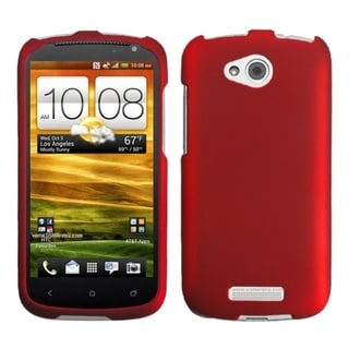INSTEN Titanium Solid Red Phone Case Cover for HTC One VX