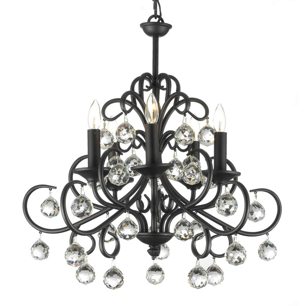 Gallery X27 Versailles Crystal Wrought Iron Chandelier