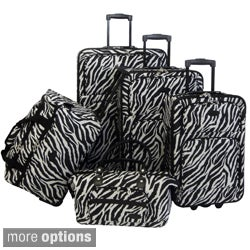 American Flyer Animal Print 5-piece Luggage Set (2 options available)