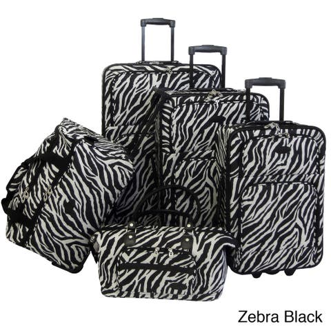 American Flyer Animal Print 5-piece Luggage Set
