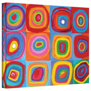 Susi Franco 'Interpretation of Farbstudie Quadrate by Wassily Kandinksy' Gallery-Wrapped Canvas