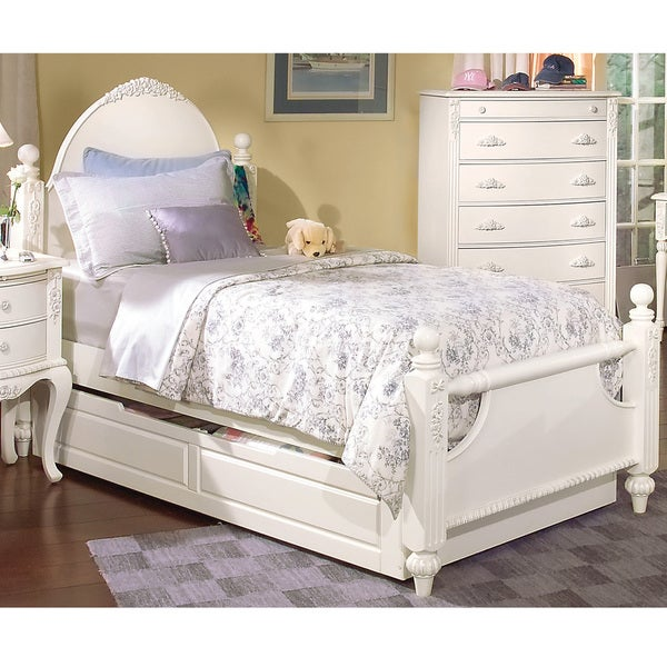 Greyson Living Cheryl Antique White Twin-size Post Bed