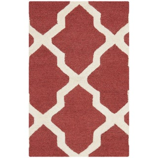 Safavieh Handmade Moroccan Cambridge Rust/ Ivory Wool Rug (3' x 5')