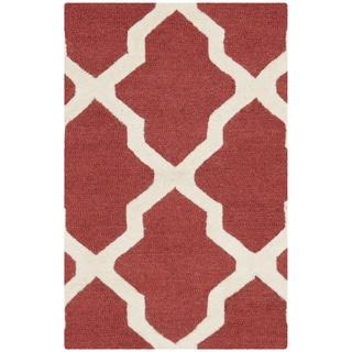 Safavieh Handmade Moroccan Cambridge Rust/ Ivory Wool Rug (2' x 3')