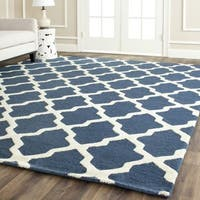 Shop Safavieh Handmade Moroccan Cambridge Geometric Navy