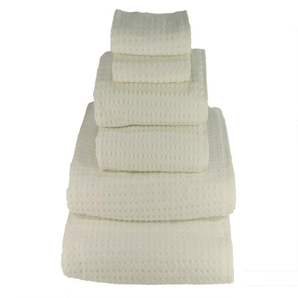 White 700-gram Cotton 6-piece Towel Set