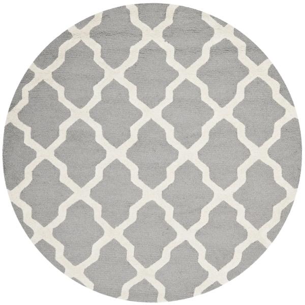 safavieh handmade moroccan cambridge silver/ ivory wool rug, safavieh 8 ft round rugs, safavieh round area rugs, safavieh round outdoor rugs
