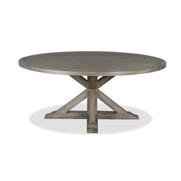 La Phillippe Reclaimed Wood Round Dining Table Free