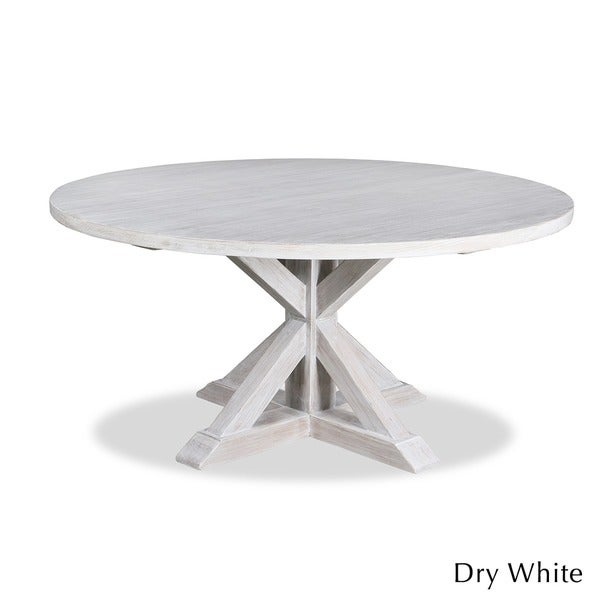 White Wood Round Dining Table Part - 16: La Phillippe Reclaimed Wood Round Dining Table - Free Shipping Today -  Overstock.com - 15416748