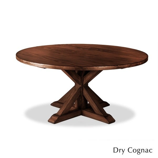 Lovely La Phillippe Reclaimed Wood Round Dining Table   Free Shipping Today    Overstock.com   15416748