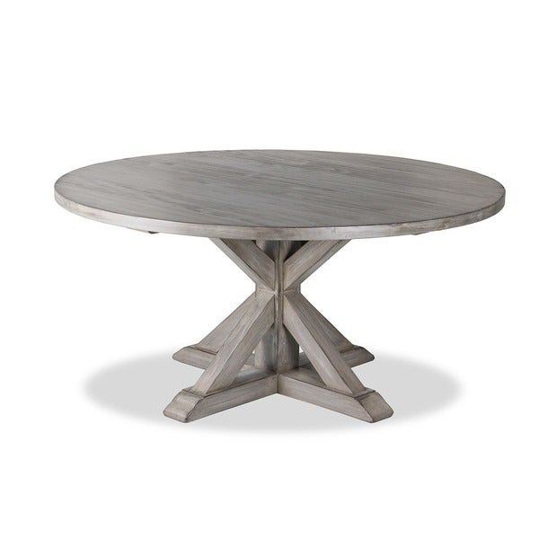 Delightful La Phillippe Reclaimed Wood Round Dining Table