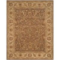 Safavieh Hand-made Antiquity Brown/ Gold Wool Rug - 11' x 15'
