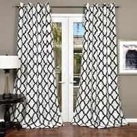 Lambrequin Trellis Bold Flocked Curtain Panel
