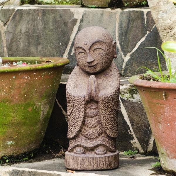 Handmade Smiling Jizu Statue (Indonesia)