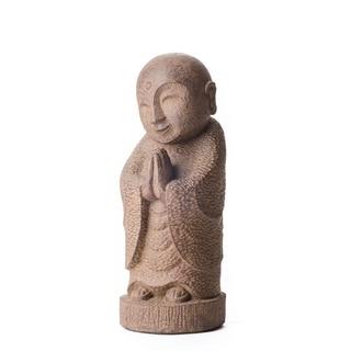 Handmade Volcanic Ash Smiling Jizu Statue (Indonesia)