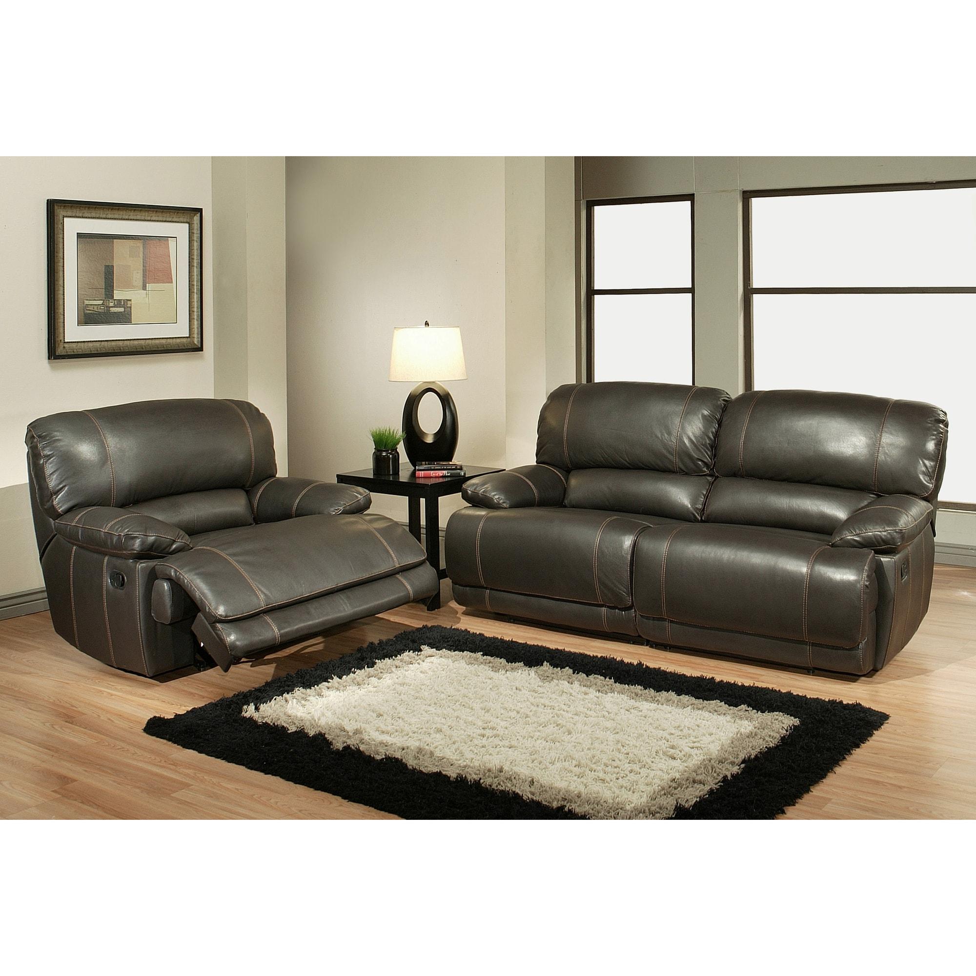 Cool Abbyson Living Aspen Premium Top Grain Reclining Leather Sofa 2 Armchairs Bralicious Painted Fabric Chair Ideas Braliciousco