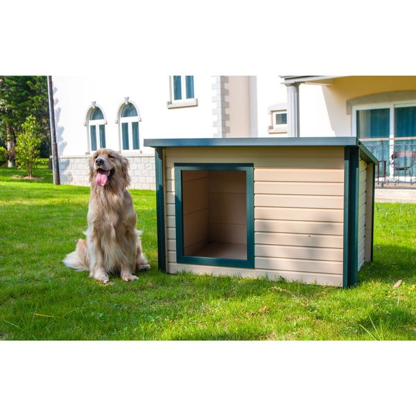 New Age Pet ecoFLEX Insulated Lodge-Style Dog House