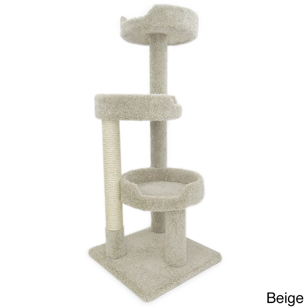 New Cat Condos 50-inch Premier Kitty Pad Cat Tree and Scr...