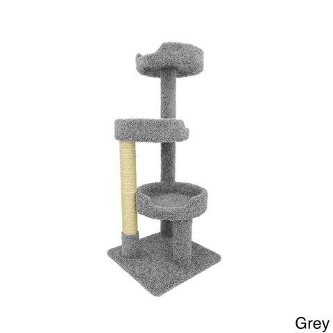 7d15dde501c9 Buy Grey Cat Trees & Shelves Online at Overstock   Our Best Cat ...