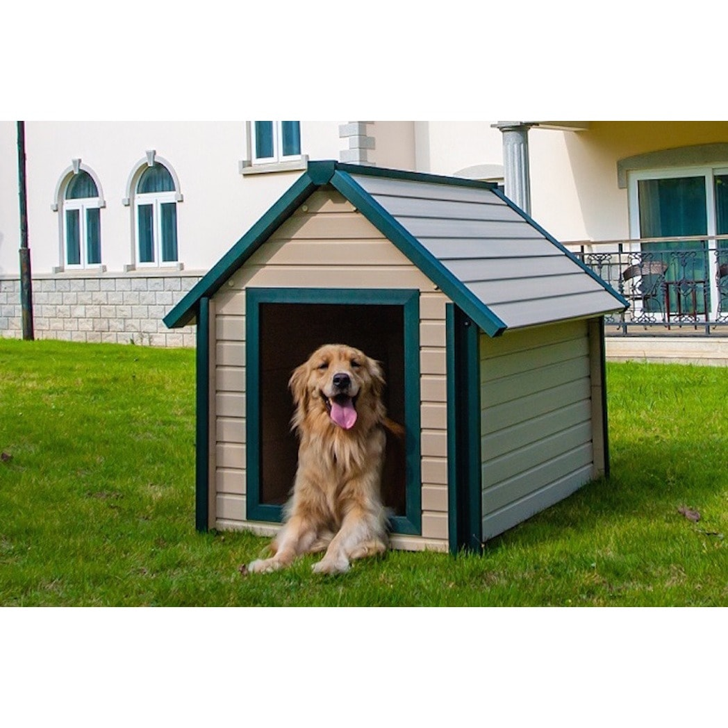 New Age Pet EcoFLEX Bunkhouse Style Dog House (Extra Larg...