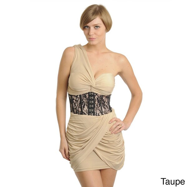 d05226bb20e Shop Stanzino Women s Single-shoulder Mini Cocktail Dress - Free ...