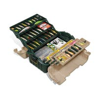 Plano Hip Roof Box 6-Tray Green/Sand