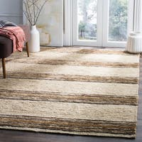 Safavieh Hand-knotted Bohemian Natural/ Rust Wool Rug - 6' x 9'