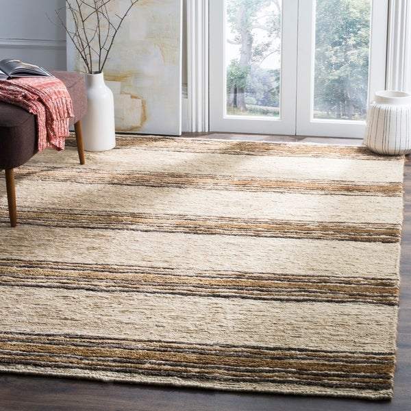 Safavieh Hand-knotted Bohemian Natural/ Rust Wool Rug - 8' x 10'