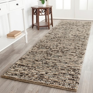 Safavieh Hand-knotted Bohemian Blue Wool Rug (2'6 x 12')