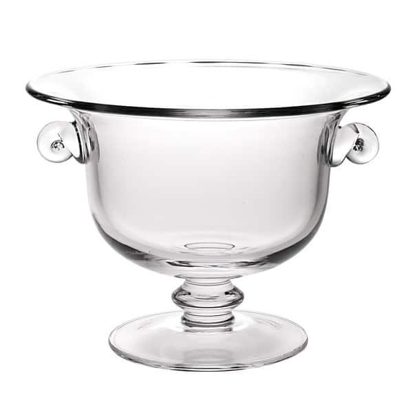 Champion European Mouth Blown Glass 13 X 10 Inch Centerpiece Punch Bowl Overstock 8060467
