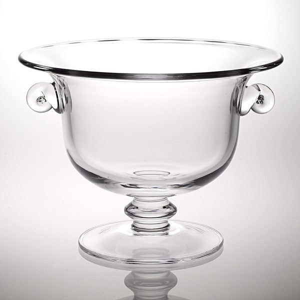 Champion footed clear glass centerpiece punch bowl free
