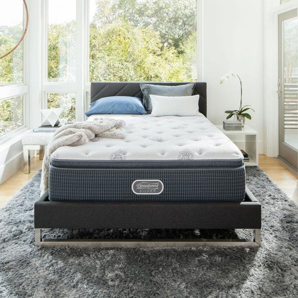 beautyrest silver maddyn luxury firm pillow top kingsize mattress set