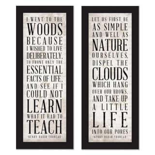 'Well as Nature & Teach' Framed Art Print