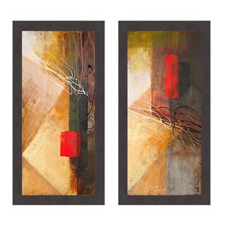 Michael Marcon 'Red on Black I & II' Framed Art Print