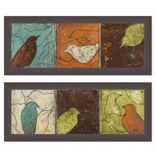Patricia Pinto 'Lovely Birds I & II' Framed Art Print