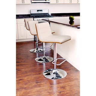 Link to Carson Carrington Ljungby Mid-century Modern Adjustable Barstool Similar Items in Dining Room & Bar Furniture