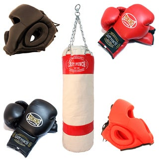 2 Pairs Of Head Gear / Heavy Duty Canvas Punching Bag / 2 Pairs Torino Boxing Gloves