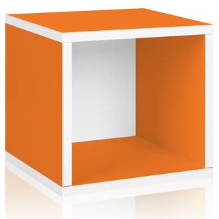 Wylie Eco Stackable Storage Cube Cubby Organizer LIFETIME GUARANTEE (Option: ORANGE)