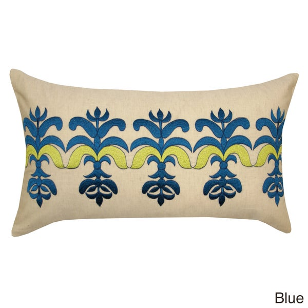 Handmade Embroidered Bea Decorative Pillow (India) - Free Shipping Today - Overstock.com - 15417064