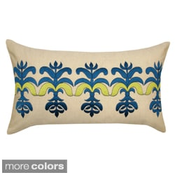 Embroidered Bea Decorative Pillow (India)