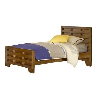 'Hardy' Interlocking Wood Slats Twin Bed by Greyson Living