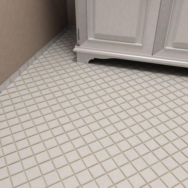 Somertile victorian quad glossy white for 10 inch floor tiles