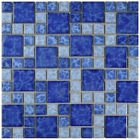 SomerTile 11.75x11.75-inch Watermark Versailles Adriatic Porcelain Mosaic Floor and Wall Tile (10 tiles/9.79 sqft.)